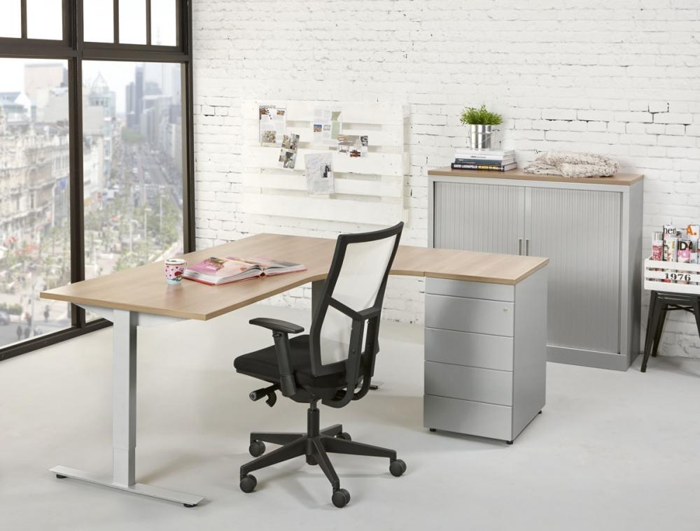 tc160r bureau compact top 160x120cm droit orange office. Black Bedroom Furniture Sets. Home Design Ideas
