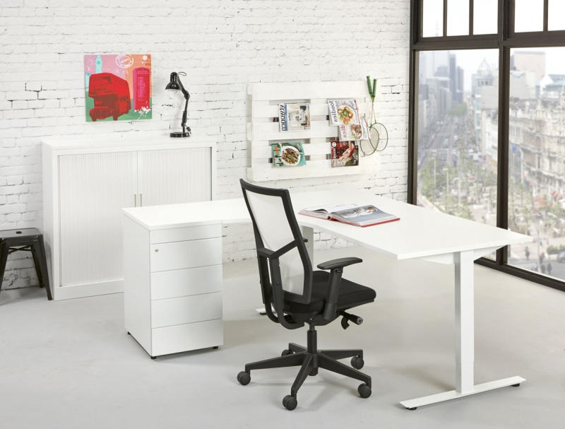 TC180L Hoekbureau u0026quot;Topu0026quot; 180x120cm links - Orange Office
